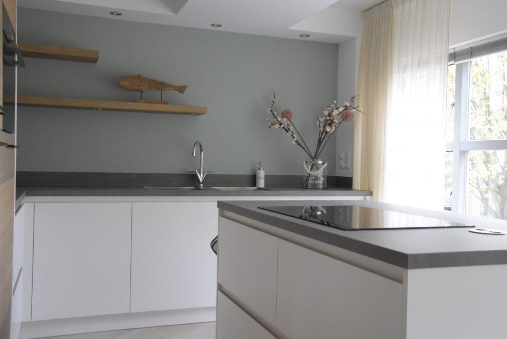 Moderne keuken in twee kleuren